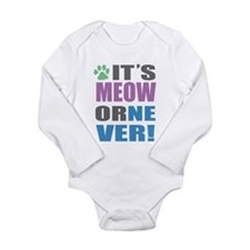 Its Meow Long Sleeve Infant Bodysuit
