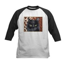 Black Cat on a Leopard Rug Tee
