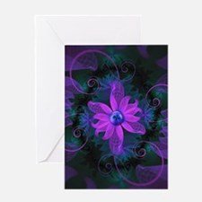 Beautiful Ultraviolet Lilac Orchid Greeting Cards