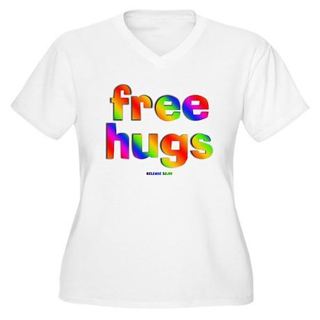 Free Hugs Women's Plus Size V-Neck T-Shirt