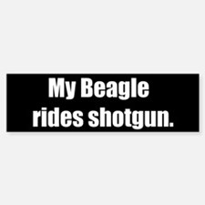 My Beagle rides shotgun (Bumper Sticker)