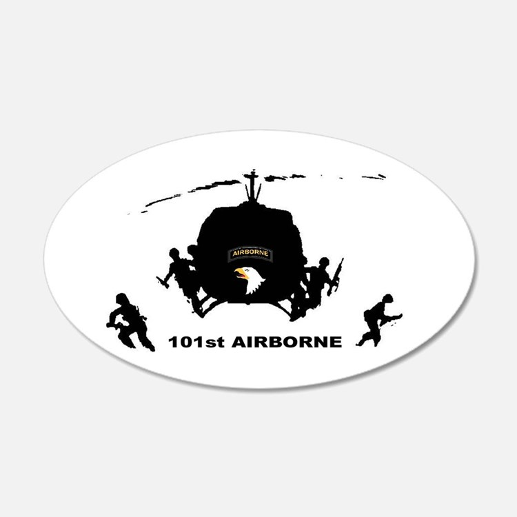 101st AIRBORNE 22x14 Oval Wall Peel