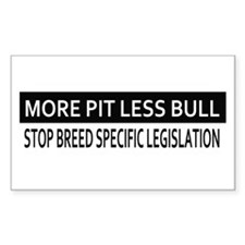 Sleep with My Pit Bull Rectangle Decal