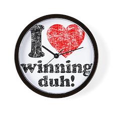 I Love Winning Wall Clock