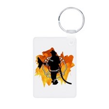 Firefighter Flames Keychains
