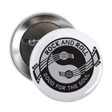 """Rock and Roll SOUL 2.25"""" Button"""