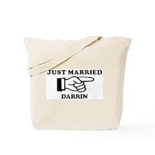 Just Married Darrin Tote Bag