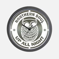 Northern Soul up all night ow Wall Clock