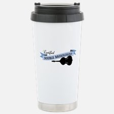 Double Bassologist Stainless Steel Travel Mug