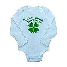 'Tis Me First Birthday Long Sleeve Infant Bodysuit