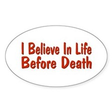 Life Before Death Oval Decal