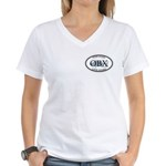 Fish Hard...Live Hard OBX Women's V-Neck T-Shirt