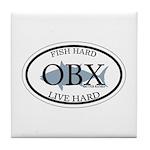 Fish Hard...Live Hard OBX Tile Coaster