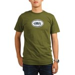 Fish Hard...Live Hard OBX Organic Men's T-Shirt (d
