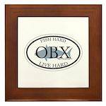 Fish Hard...Live Hard OBX Framed Tile