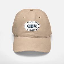 Fish Hard...Live Hard OBX Baseball Baseball Cap