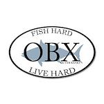 Fish Hard...Live Hard OBX 38.5 x 24.5 Oval Wall Pe