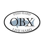 Fish Hard...Live Hard OBX 22x14 Oval Wall Peel