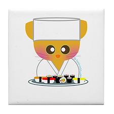 """""""Sushi Chef 2"""" Tile Coaster"""