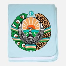 Uzbekistan Coat of Arms baby blanket