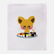 """I love Sushi"" Throw Blanket"