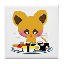 """""""I love Sushi"""" Tile Coaster"""