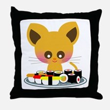 """I love Sushi"" Throw Pillow"
