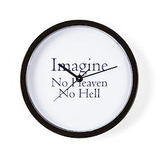 No Heaven No Hell Wall Clock