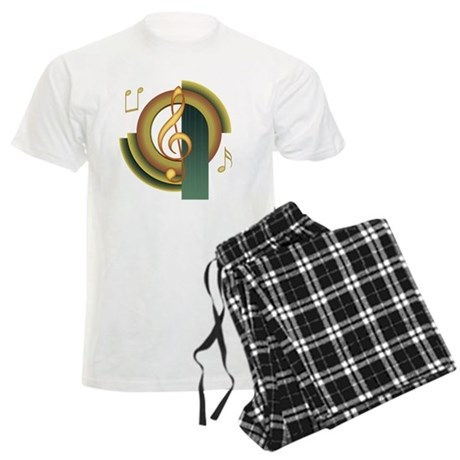 Treble Clef Deco Men's Light Pajamas