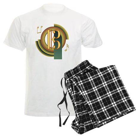 Alto/Tenor Clef Deco Men's Light Pajamas