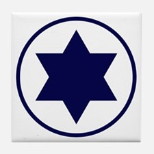Star of David Roundel Tile Coaster