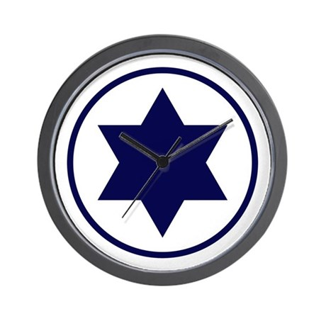 Star of David Roundel Wall Clock