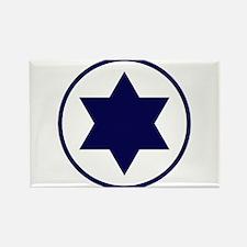 Star of David Roundel Rectangle Magnet