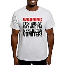 PROJECTILE VOMITER! - Ash Grey T-Shirt