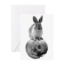 mono Fly me to the moon Greeting Card