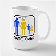 Game Over Marriage Married Ba Large Mug
