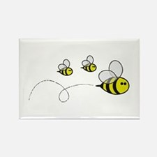 3 family bee Magnets