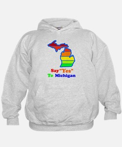 Say Yes To Michigan and The M Hoodie