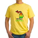 Say Yes To Michigan and The M Yellow T-Shirt