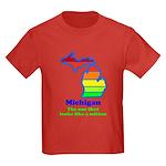 Say Yes To Michigan and The M Kids Dark T-Shirt