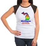Say Yes To Michigan and The M Women's Cap Sleeve T
