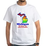 Say Yes To Michigan and The M White T-Shirt