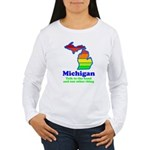 Say Yes To Michigan and The M Women's Long Sleeve