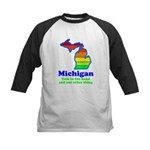 Say Yes To Michigan and The M Kids Baseball Jersey