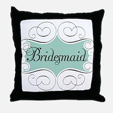Beautiful Bridesmaid Throw Pillow