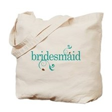 Bridesmaid Wedding Swirl Tote Bag