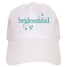 Bridesmaid Wedding Swirl Cap