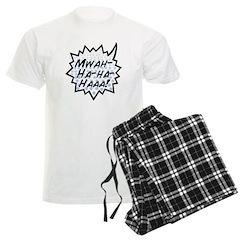 'Evil Laugh' Men's Light Pajamas