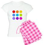 'Rainbow Polka Dot' Women's Light Pajamas