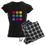 'Rainbow Polka Dot' Women's Dark Pajamas